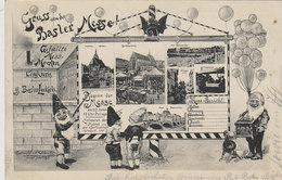 Gruss Von Der Basler Messe - Mit Zwergen &Läckerli-Reklame - 1905     (P2-00914) - BS Basle-Town