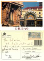 Estacion De Santander Railway Station, Bilbao, Spain Postcard Posted 1999 Stamp - Vizcaya (Bilbao)
