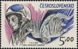 Czechoslovakia / Stamps (1973) 2025: Space Exploration (Soviet Cosmonauts) - Yuri Alekseyevich Gagarin (1934-1968) - Space