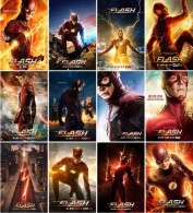 12 Postcards Of The Flash Superhero Tv Moive Film Poster,  Postkarte Carte Postale - Séries TV