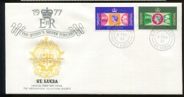 St Lucia 1977 FDC QEII Silver Jubilee  Uc438