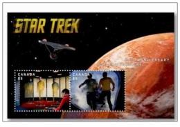 Bloc Sheet  Star Trek Hologramme Lenticular Neuf ** MNH Canada 2016