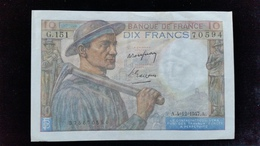 """Billet De 10 Francs """"Mineur """" 1947.G.151 - ...-1889 Francos Ancianos Circulantes Durante XIXesimo"""