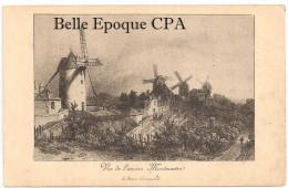 75 - PARIS 18 - Vue De L'ancien Montmartre - MOULINS +++++++ Musée Carnavalet / VIEUX MONTMARTRE - District 18