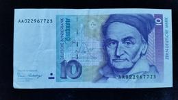 Billet De 10 Mark 1989 - [ 7] 1949-… : FRG - Fed. Rep. Of Germany