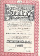 Société Des Mines D'Or De Kilo-Moto/Congo Belge/Kilo/Bruxelles/Part Bénéficiaire Sans Désignation De Valeur/1944  ACT111 - Mines