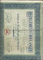Alcool/ Distilleries Paul Boulanger/Action De 100 Francs Au Porteur Entiérement Libérée/PANTIN/1924    ACT113 - Aandelen