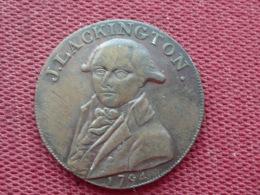 ROYAUME UNI Médaille J.LACKINGTON Half Penny 1794 - Royaume-Uni
