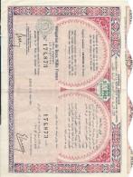 Empire Chérifien/Protectorat De La République Française Au MAROC/Obligation De 2000 Francs Au Porteur/RABAT/1952  ACT114 - Aandelen