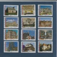 1202 Au 1213  De  2015  -  Adhésif Oblitéré  -  Série :  Les Mairies De France   -  Série De 12 Timbres . - Used Stamps