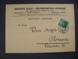 Hungary Nyomtatvany Drucksache 1934 Schilfrohrverwertungs Unternehmung Budapest - Czechoslovakia, 6 Ft. Br. Eotvos
