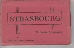 16 / 10 / 47  -    DÉPLIANT  DE  CPA  DE  STRASBOURG    20  CPA - Cartes Postales