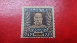 Austria 1908 Emperor Franz Josef 10 Kronen-Michel 156 Mint Never Hinged-Signed B.H.G. Nachdruck - 1850-1918 Empire
