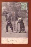 1 Cpa Enfant Saxophone - Scenes & Landscapes