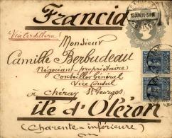 CHILI - Entier Postal + Complément De Santiago Pour La France En 1910 - A Voir - L  4156 - Chili