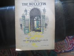 THE BULLETIN - 1928- THE AMERICAN WOMEN'S CLUB OF PARIS- VOIR PHOTOS - Livres, BD, Revues
