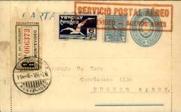 URUGUAY - Entier Postal En Recommandé Par Avion Montévideo /Buenos Aires 1926 , Affr. Plaisant - A Voir - L  4159 - Uruguay