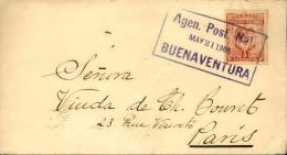 COLOMBIE - Enveloppe De Buenaventura Pour La France 1903  Via New York , Obl. Agence Postal Locale- A Voir - L  4160 - Colombie