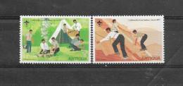 Antigua 1977 Y&T Nr° 455,457 Scouts (**) - Antigua Et Barbuda (1981-...)