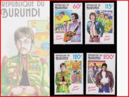 Burundi 1045/48**/MNH   Stars Du Rock