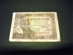 ESPAGNE 1 Peseta 15/06/1945, Pick N° 128, SPAIN - 1-2 Peseten