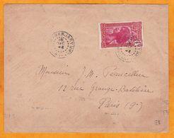 1939 - Enveloppe De Mananjary Vers Paris Via Tananarive - OMEC Postez Votre Courrier Dès Qu'il Est Prêt - Storia Postale