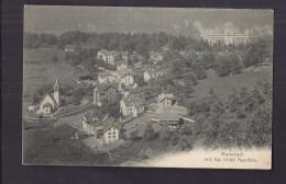 CPA ALLEMAGNE - MORSCHACH - Morschach Mit Gd. Hôtel Axenfels - Très Jolie Vue Générale Village + Intérieur - Germany