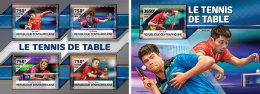 CENTRALAFRICA 2016 ** Table Tennis Tischtennis Tennis De Table M/S+S/S - OFFICIAL ISSUE - A1636
