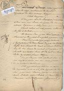 VP5629 - CLAYE - Acte De 1828 - Entre BARISSON à VILLEPARISIS & LEVOL Au PIN - Vente De Terre Au Pin - Manuscripts