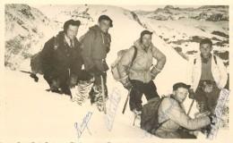 SAINT GERVAIS - Guides De Saint Gervais En 1950, Carte Photo Dédicacée. - Saint-Gervais-les-Bains
