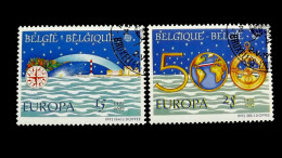 Belgien 2506/7 Oo/ESST, EUROPA/CEPT 1992, Christoph Kolumbus (1451-1506), 500 J. Entdeckung Amerikas - Gebraucht