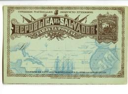 18386   -   Republica Del Salvador    -   Tarjeta Postal    -   2 Centavos 1892 - El Salvador
