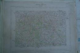 87-  SAINT YRIEIX LA PERCHE- LA MEYZE-CHALUS-FIRBEIX-NEXON-JANAILHAC-CHALARD-LADIGNAC-CARTE GEOGRAPHIQUE 1881- - Cartes Géographiques