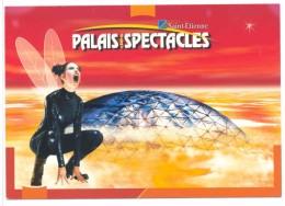 Carte Publicitaire Palais Des Spectacles Saint Etienne 2002 Cirque  Palmade Le Forestier Semoun Holiday On Ice Lama - Advertising