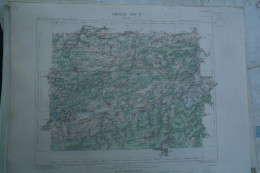 08- GIVET - CARTE GEOGRAPHIQUE 1887- MARIEMBOURG-PHILIPEVILLE-CERFONTAINE-DAUSSOIS-TREIGNES-HAYBES-WALCOURT - Geographical Maps