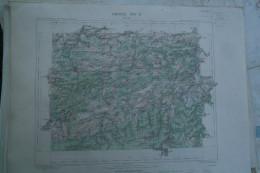 08- GIVET - CARTE GEOGRAPHIQUE 1887- MARIEMBOURG-PHILIPEVILLE-CERFONTAINE-DAUSSOIS-TREIGNES-HAYBES-WALCOURT - Cartes Géographiques