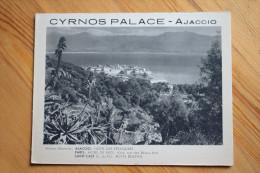Ajaccio - Cyrnos Palace - Dépliant Publicitaire - Hôtel - Casino - Dancing - Bar Américain - Werbung
