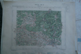 08-  MEZIERES - CARTE GEOGRAPHIQUE 1888- ROCROI-REVIN-HAYBES-BLOMBAY-THIERACHE-THILAY-MARLEMONT-CERNION-MARBY- RENWEZ- - Geographical Maps