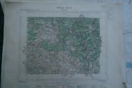 08-  MEZIERES - CARTE GEOGRAPHIQUE 1888- ROCROI-REVIN-HAYBES-BLOMBAY-THIERACHE-THILAY-MARLEMONT-CERNION-MARBY- RENWEZ- - Cartes Géographiques