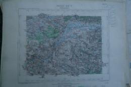 59- VALENCIENNES - CARTE GEOGRAPHIQUE 1889-VILLEREAU-HASPRES-AVESNES LE SEC-HASNON-QUIEVRECHAIN-THULIN-JENLAIN-WARGNIES- - Cartes Géographiques