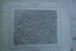 59- FLINES- VALENCIENNES - CARTE GEOGRAPHIQUE 1890 -TOURNAY- BASECLES-ATH-LESSINES-WATTRIPONT-CHIEVRES-MOURCOURT-MAUBRAY - Cartes Géographiques