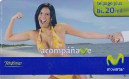 Venezuela, MOV-PRE-0042, Acompáñame (Archipiélago De Los Roques), Bikini Woman, 2 Scans. - Venezuela