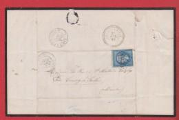 Lettre De Honfleur    --  Pour Cerisy La Salle  --   23 Juil 1863 - 1849-1876: Période Classique