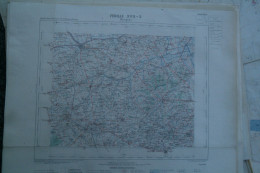 59-BERGUES- CARTE GEOGRAPHIQUE 1889-BAILLEUL-POPERINGHE-WOESTEN-HONDSCHOOTE-WORMHOUDT-STEENVOORDE-CAESTRE-WYLDER-ARNEKE - Cartes Géographiques