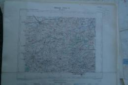 59-BERGUES- CARTE GEOGRAPHIQUE 1889-BAILLEUL-POPERINGHE-WOESTEN-HONDSCHOOTE-WORMHOUDT-STEENVOORDE-CAESTRE-WYLDER-ARNEKE - Geographische Kaarten