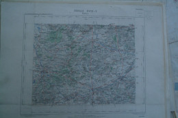 59-HALLUIN- CARTE GEOGRAPHIQUE 1890- YPRES-RONCQ-COURTRAI-ROULERS-STADEN-HARLEBEKE-ISEGHEM-ARDOYE-WERVICQ-LAUWE-GHELUWE - Cartes Géographiques