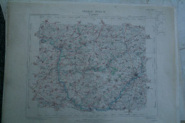 02-SAINT QUENTIN - CARTE GEOGRAPHIQUE 1891-EPPEVILLE-CROIX-MORCHAIN- SAINTE RADEGONDE- BARLEUX-BEAUVOIS-CLASTRES-PERONNE - Geographical Maps