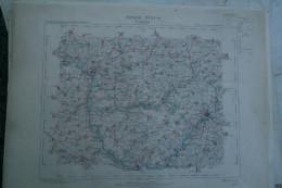 02-SAINT QUENTIN - CARTE GEOGRAPHIQUE 1891-EPPEVILLE-CROIX-MORCHAIN- SAINTE RADEGONDE- BARLEUX-BEAUVOIS-CLASTRES-PERONNE - Cartes Géographiques