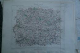 02- ARRAS - CARTE GEOGRAPHIQUE 1890-LIEVIN- LENS- BERLES-RANCHICOURT-FLORINGHEM-HOUCHAIN-BRYAS-BUNEVILLE-LIENCOURT-RUITZ - Geographical Maps