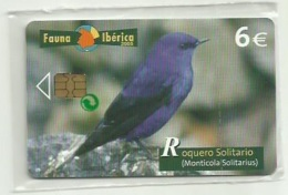 ESPAÑA 2005 - FAUNA - ROQUERO SOLITARIO (MONTICOLA SOLITARIUS) - (NUEVA Y PRECINTADA)(VALOR FACIAL) - España